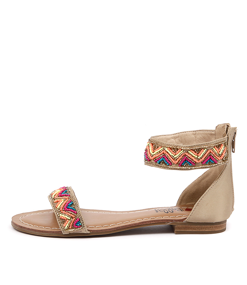 I Love Billy Sheen Nude Multi Casual Flat Sandals