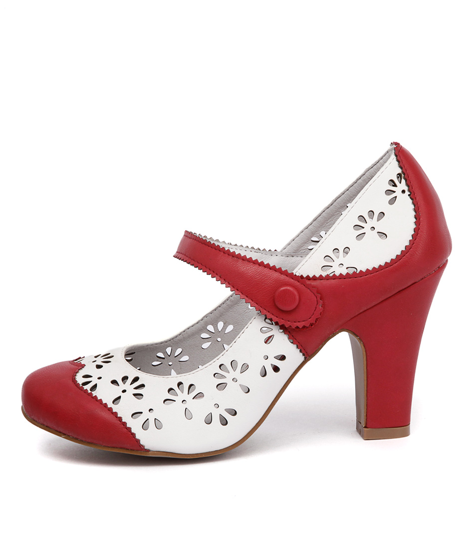 I Love Billy Tanio Red Off White Casual Heeled Shoes