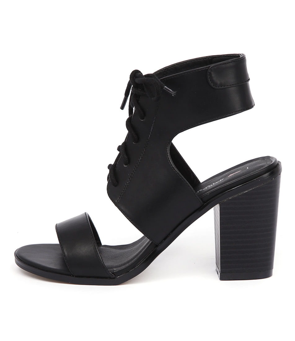 I Love Billy Brillie Black Sandals
