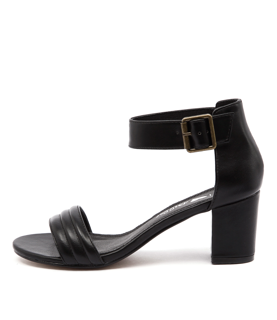 I Love Billy Granted Black Casual Heeled Sandals buy  online