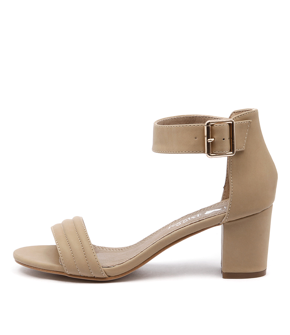 I Love Billy Granted Nude Casual Heeled Sandals