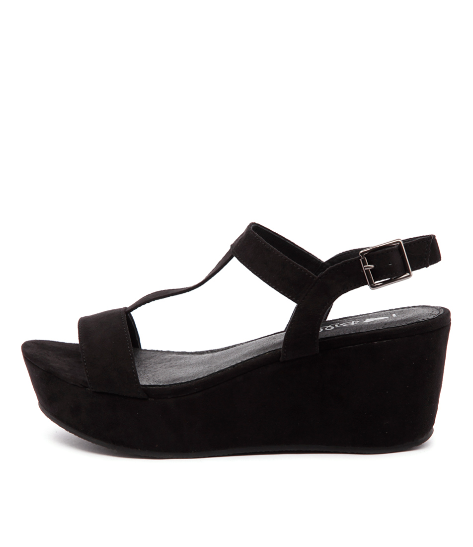 I Love Billy Grace Black Casual Heeled Sandals