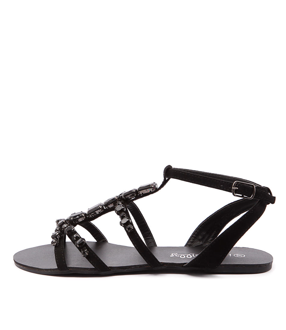 I Love Billy Gerry Black Casual Flat Sandals