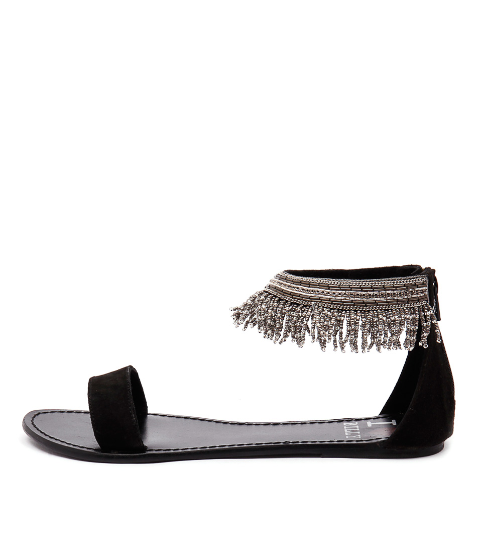 I Love Billy Cowens Black Casual Flat Sandals