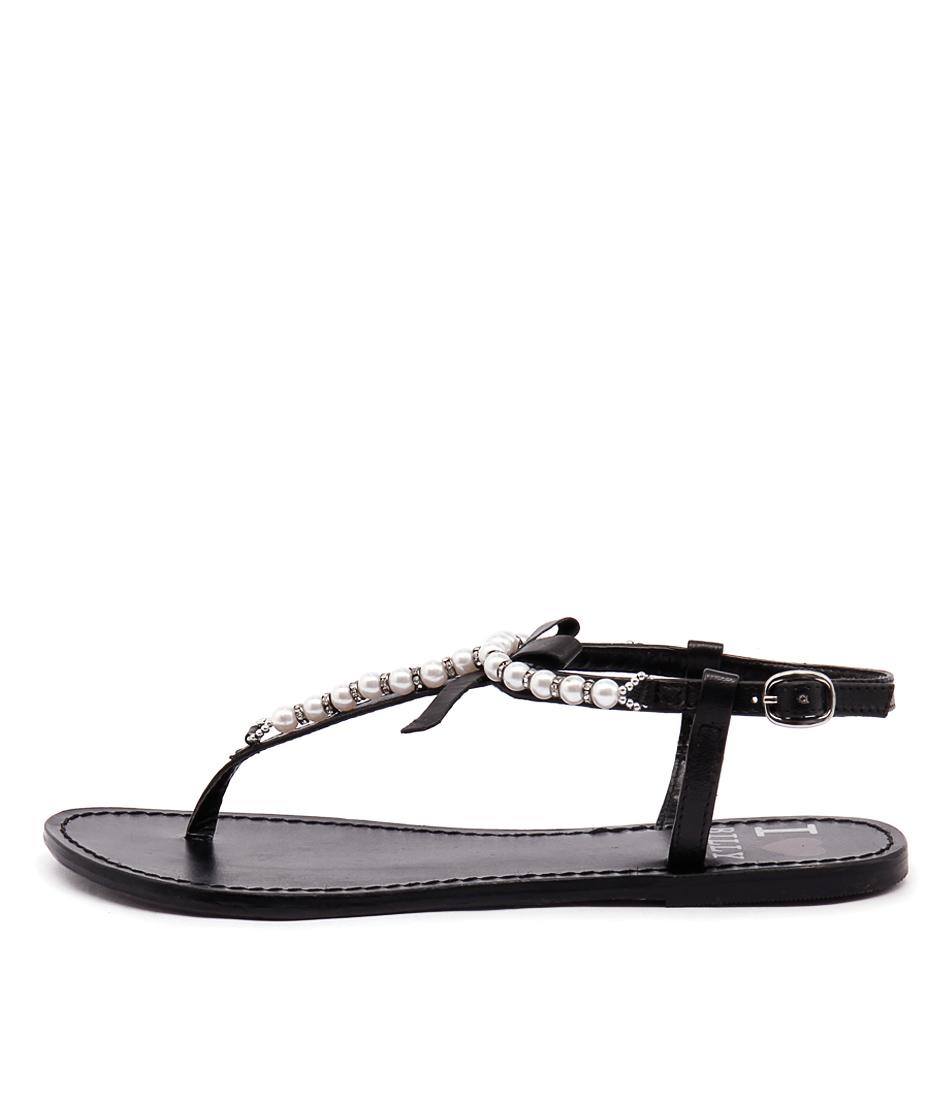 I Love Billy Crawf Black Sandals