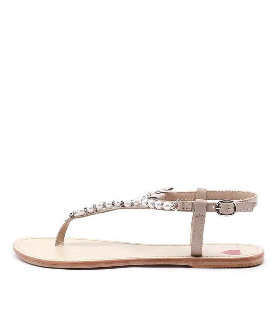 I Love Billy Crawf Nude Sandals