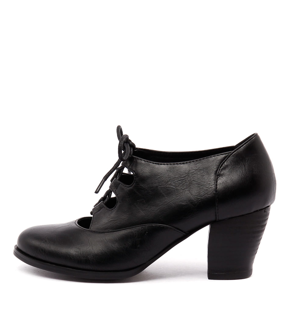 I Love Billy Delilah Black Casual Heeled Shoes
