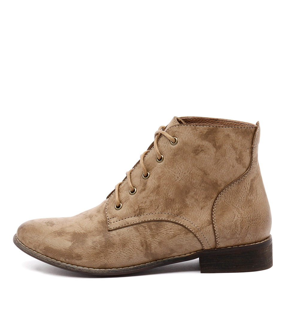 I Love Billy Fufu Sand Ankle Boots