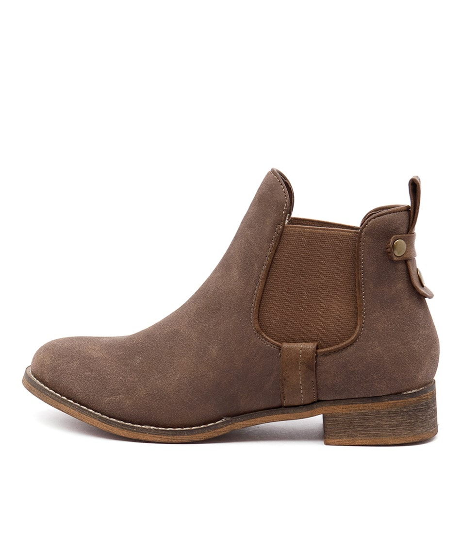 I Love Billy Saunders Mocca Ankle Boots