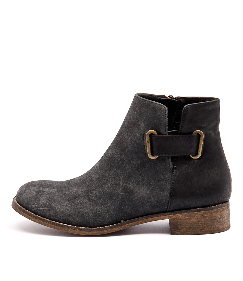 I Love Billy Selina Black Casual Ankle Boots