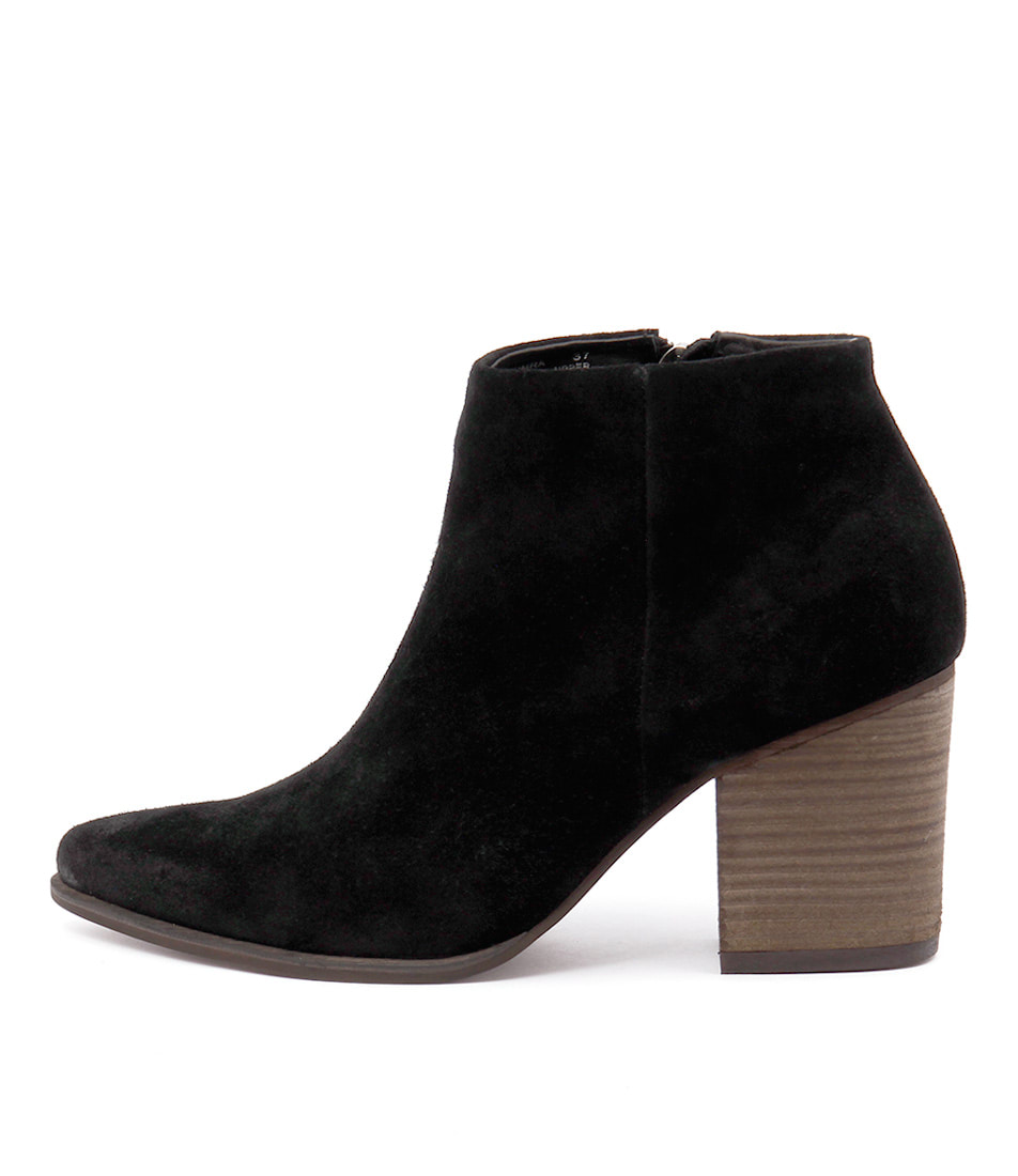 I Love Billy Kimra Black Ankle Boots