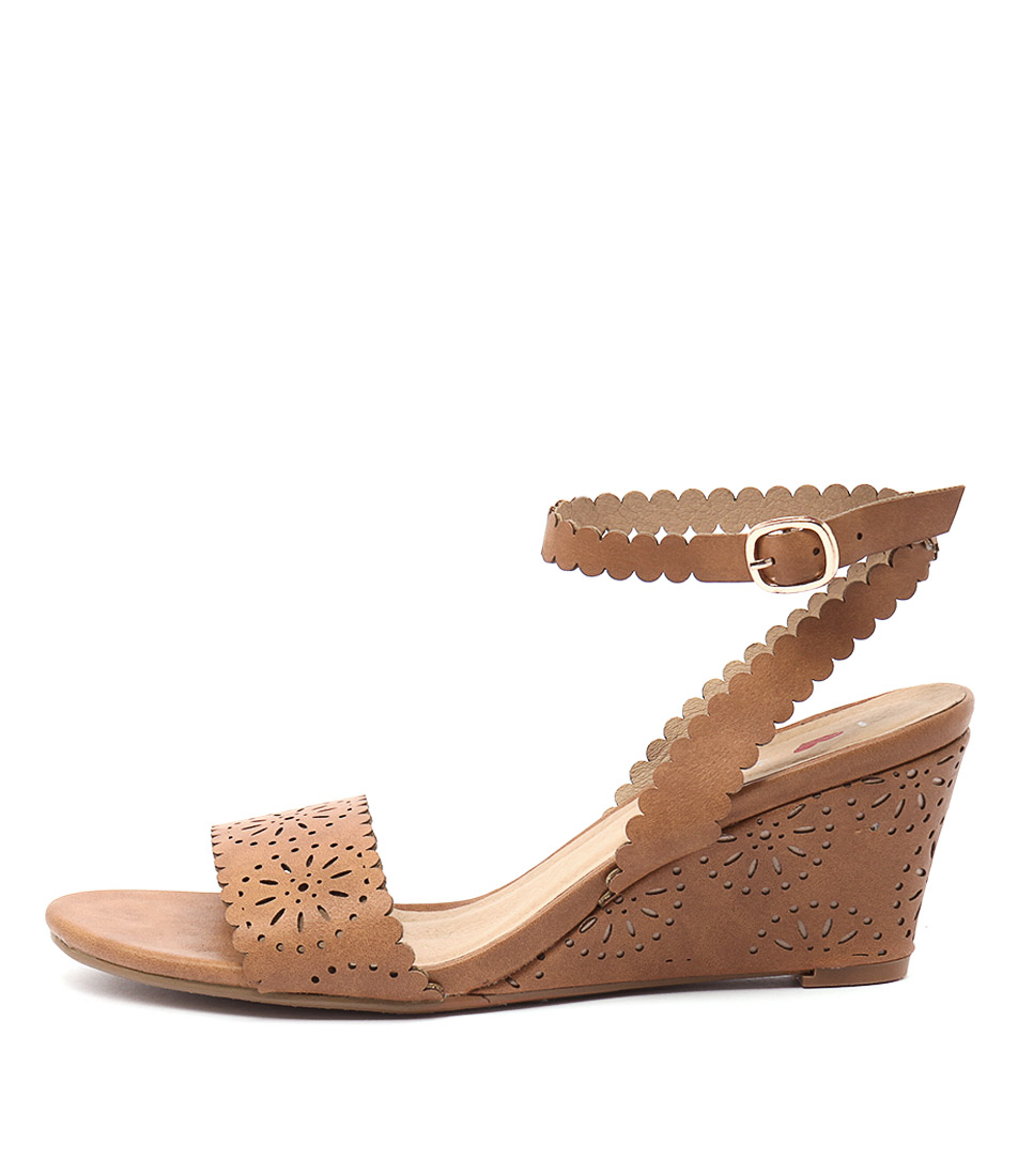 I Love Billy Bettie Tan Casual Heeled Sandals