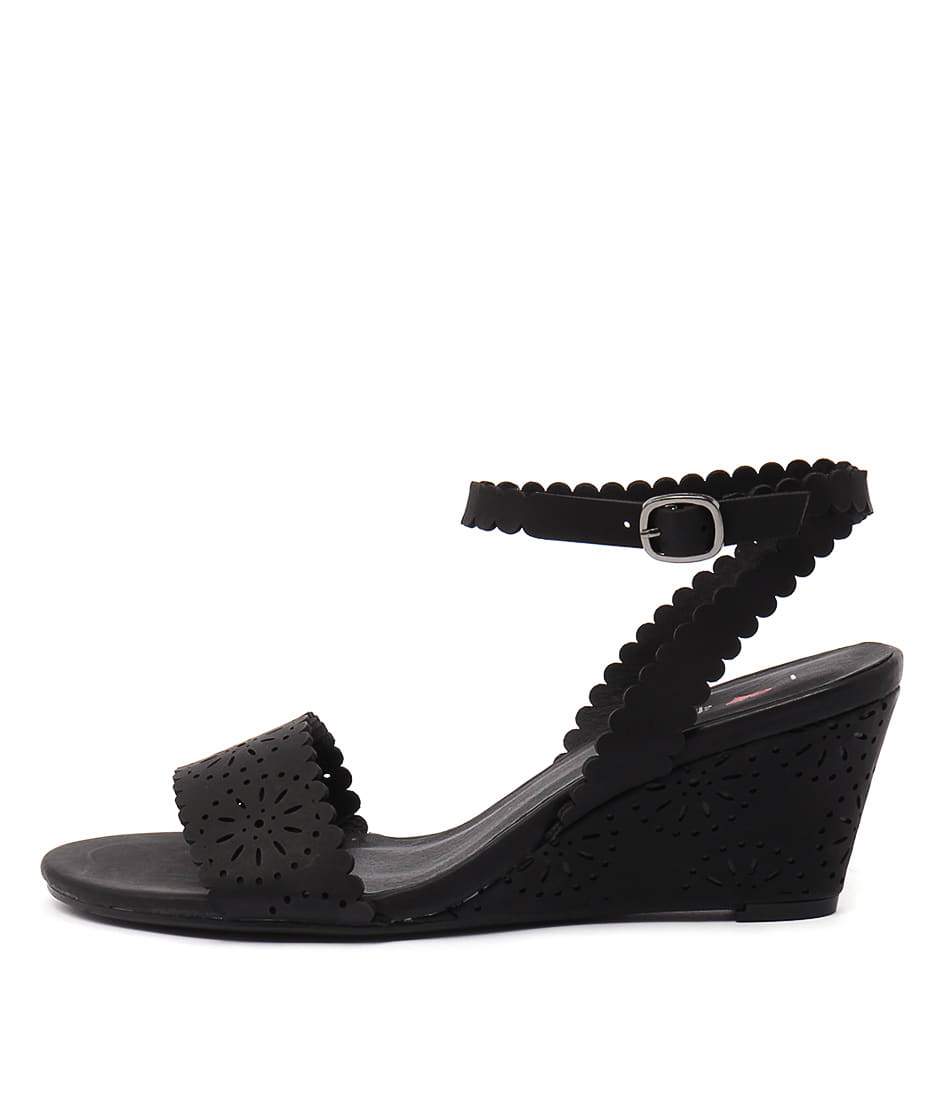 I Love Billy Bettie Black Heeled Sandals