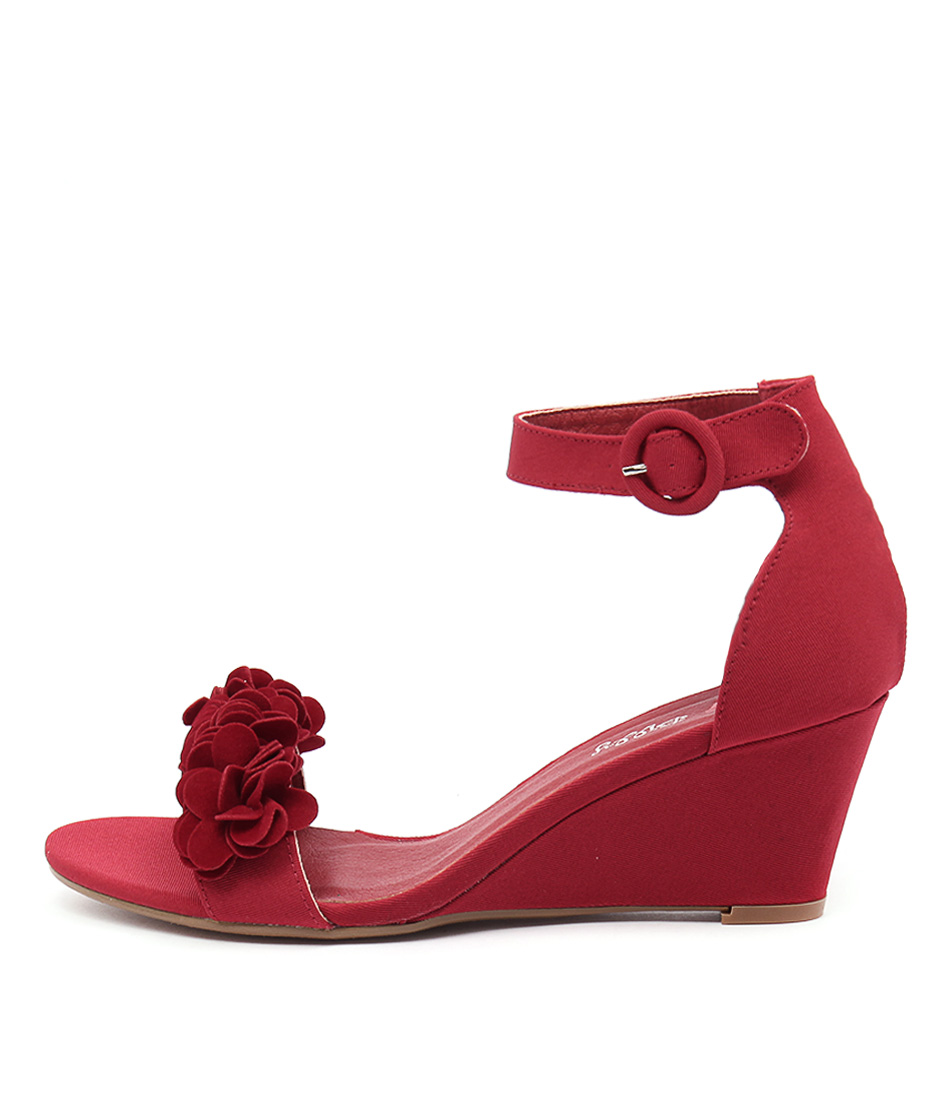 I Love Billy Bines Red Bright Multi Heeled Sandals