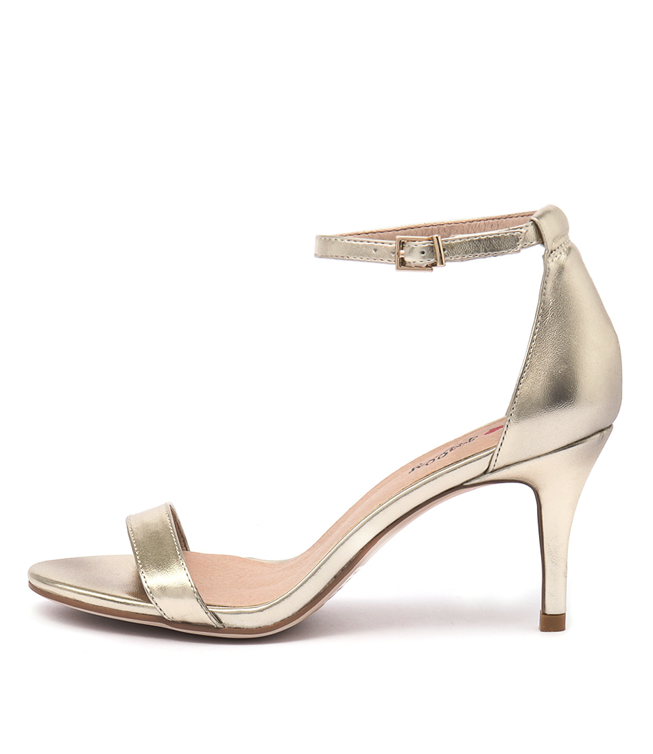I Love Billy Connie Gold Heeled Sandals