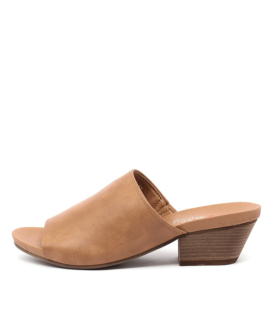 I Love Billy Conny Tan Casual Heeled Sandals