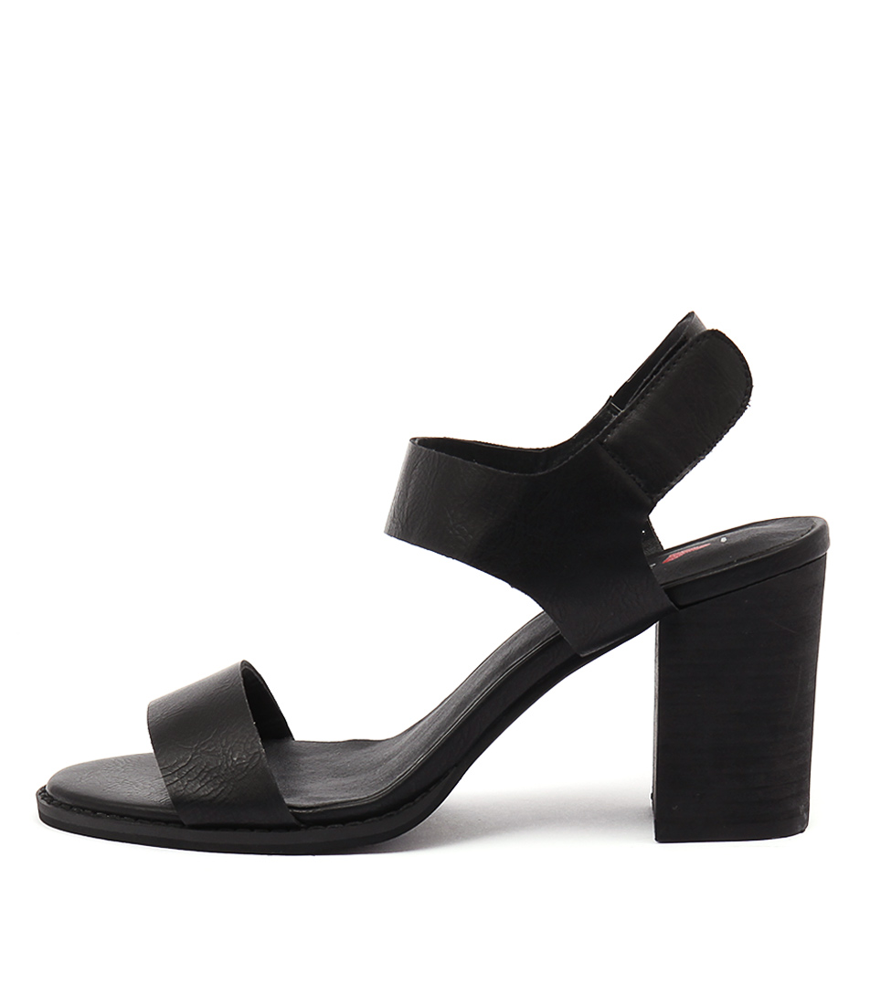 I Love Billy Dezzy Black Casual Heeled Sandals