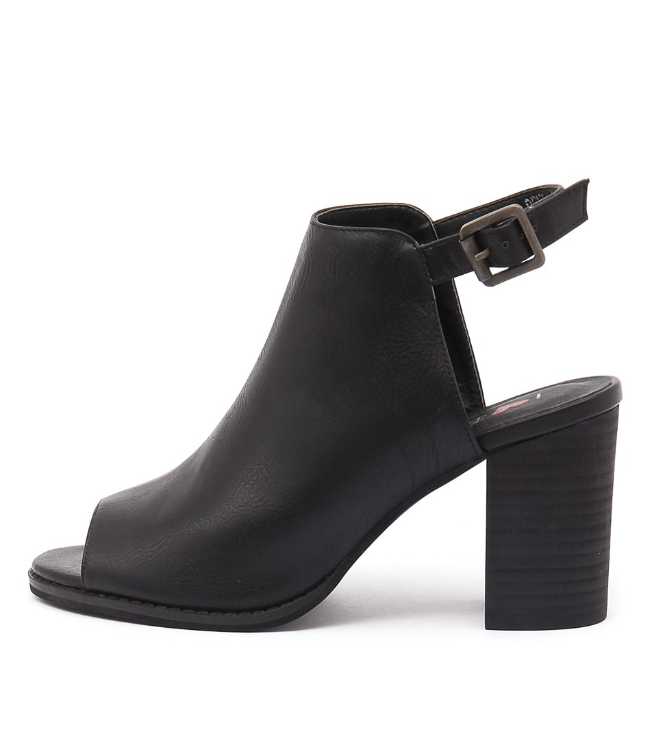 I Love Billy Denial Black Casual Heeled Shoes