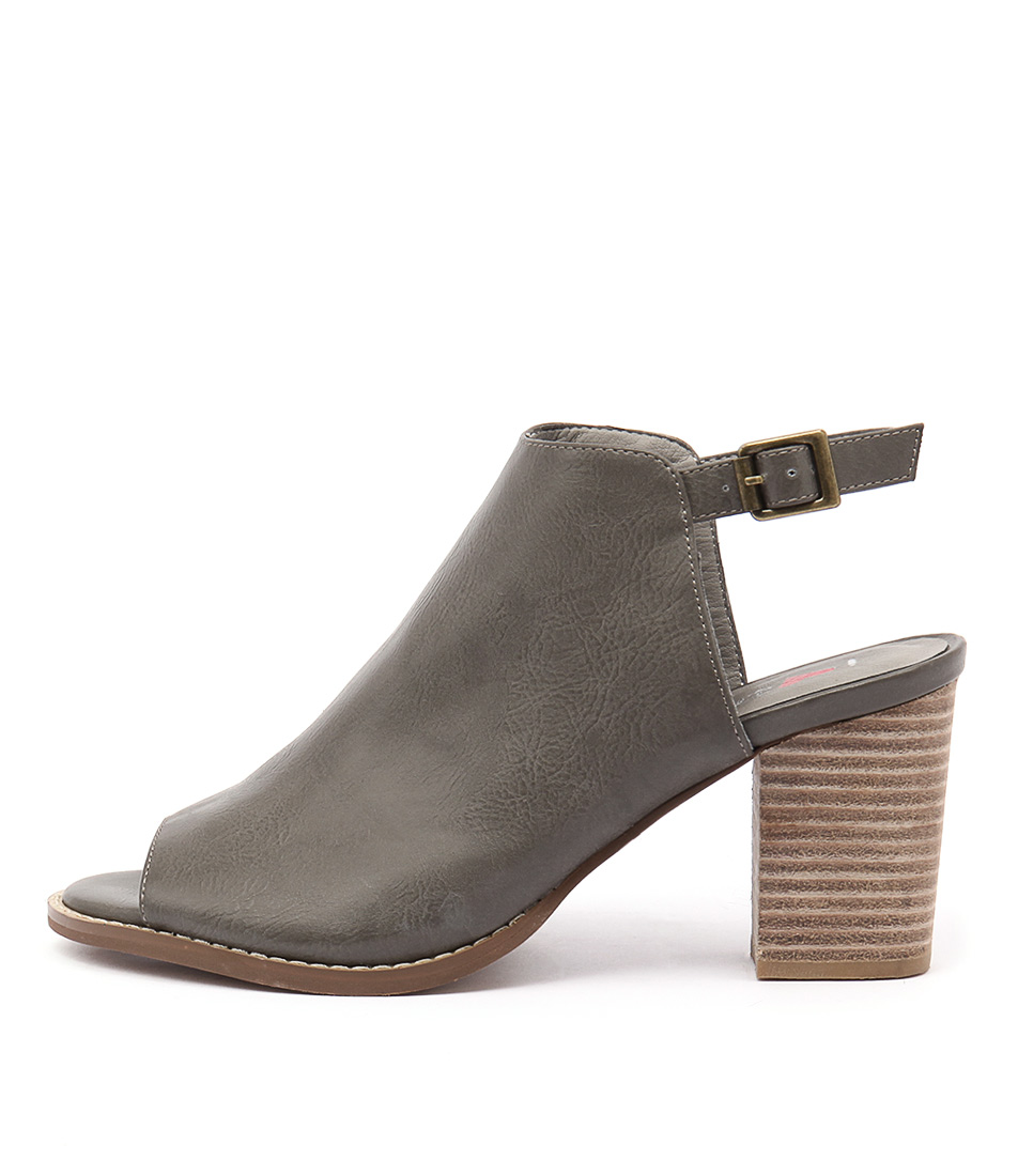 I Love Billy Denial Grey Casual Heeled Shoes