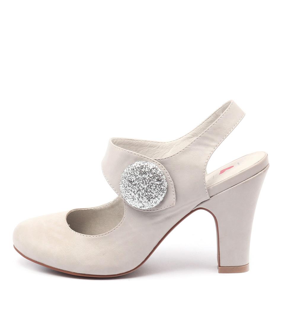 I Love Billy Tendra Misty Silver Heeled Shoes