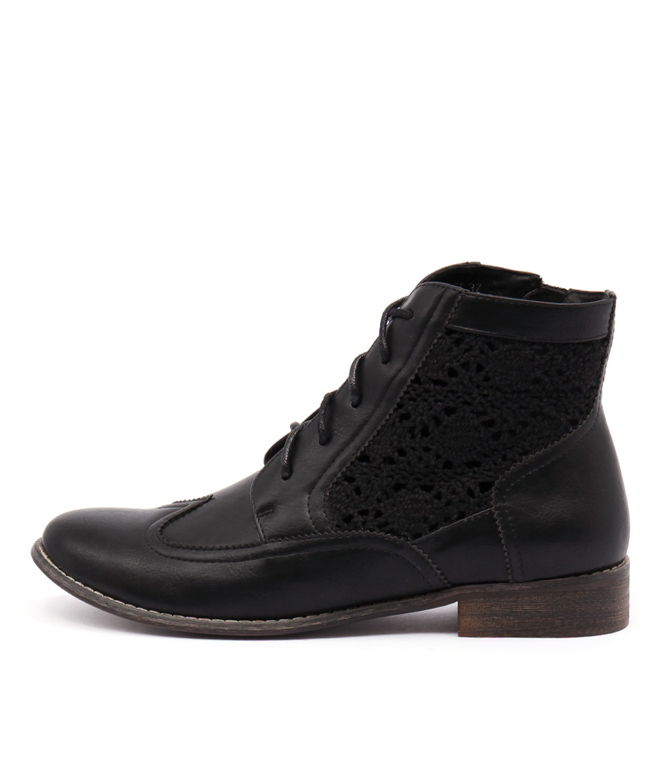 I Love Billy Fifi Black Casual Ankle Boots