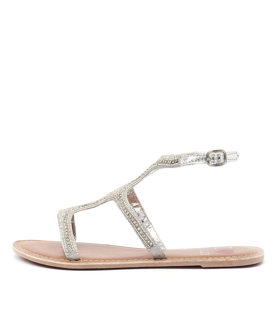 I Love Billy Barka Silver Sandals