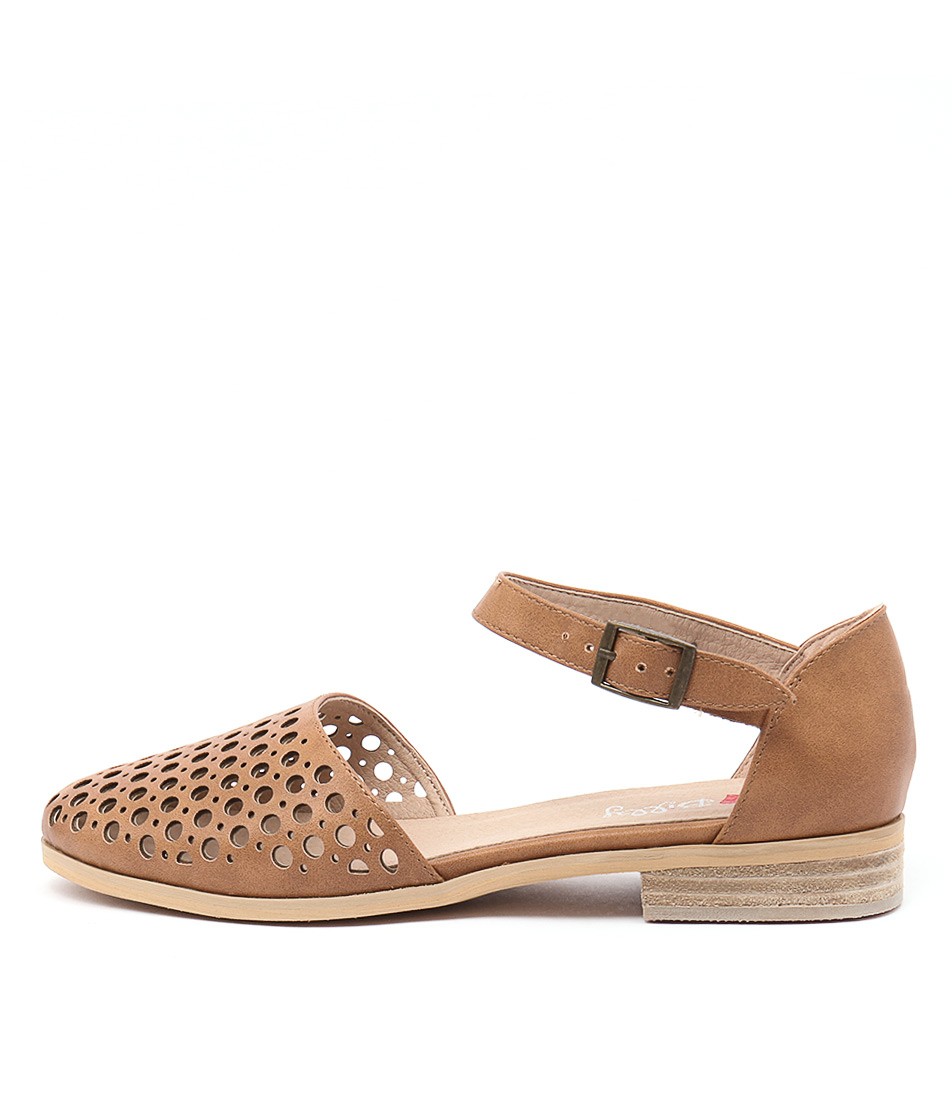 Buy I Love Billy Quotes Tan Flats online with free shipping