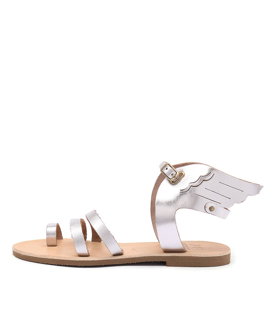 I Love Billy Kailey Silver Casual Flat Sandals