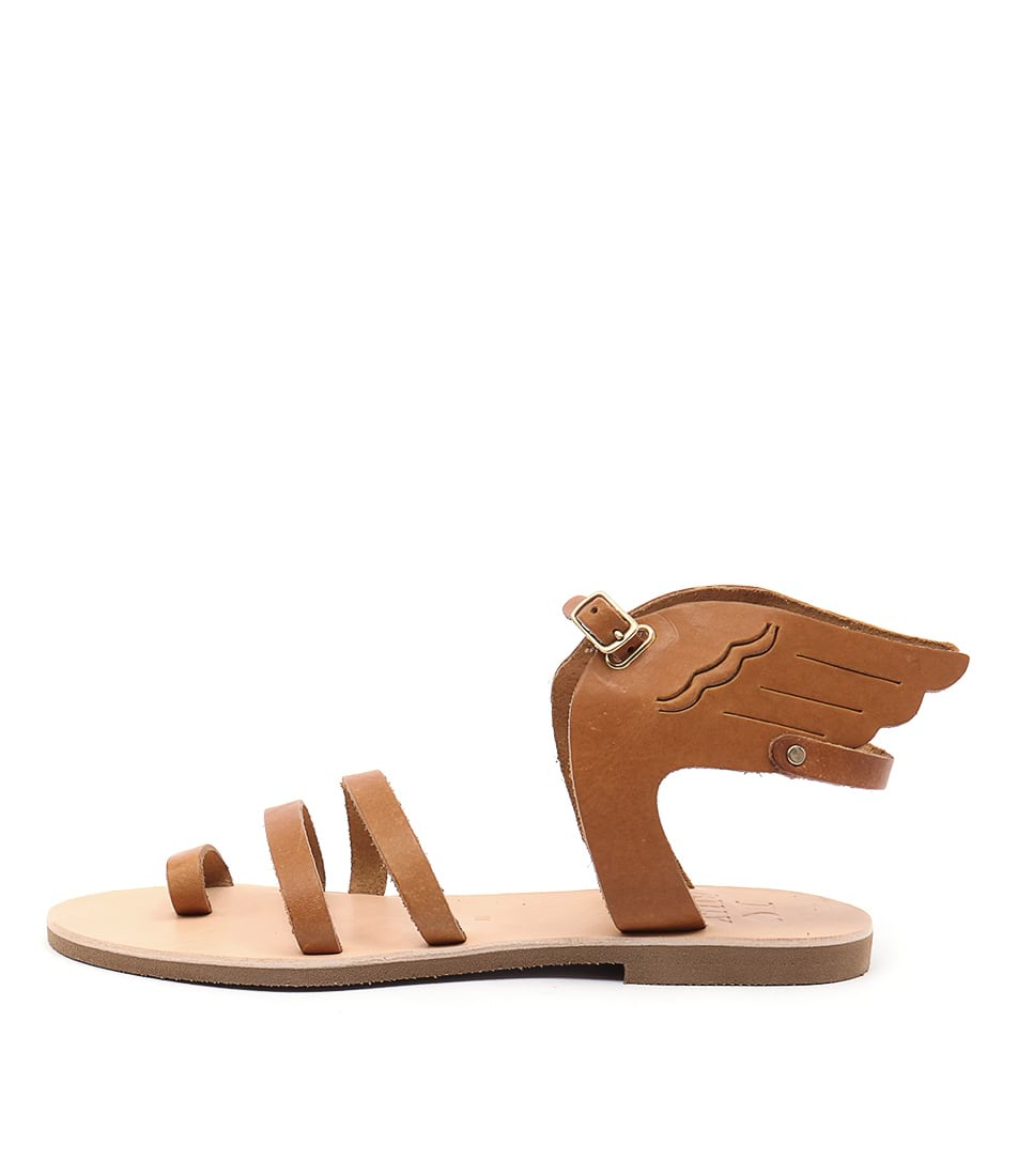 I Love Billy Kailey Tan Flat Sandals
