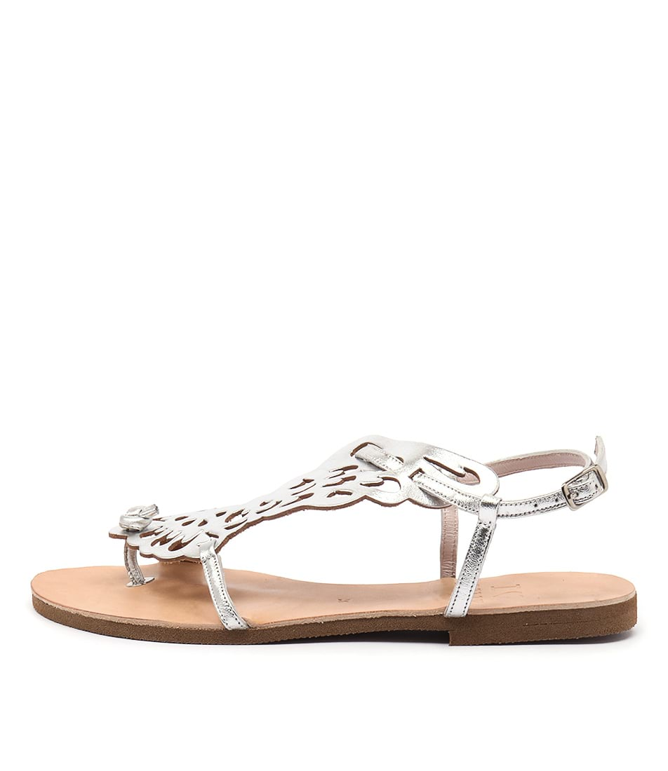 I Love Billy Kairos Silver Casual Flat Sandals