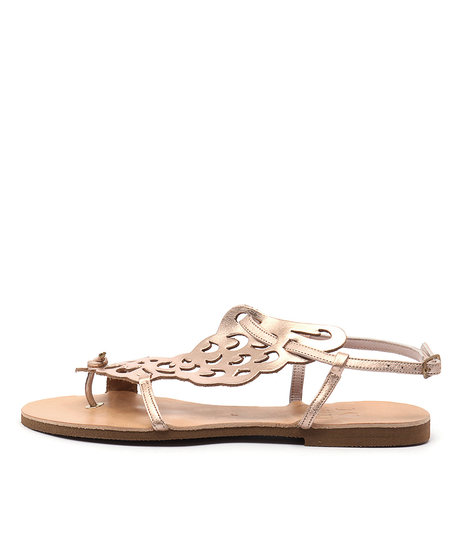 I Love Billy Kairos Rose Gold Casual Flat Sandals
