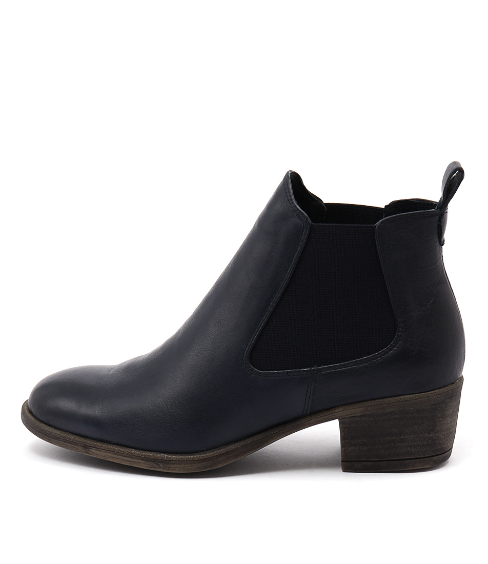 I Love Billy Amona Navy Ankle Boots