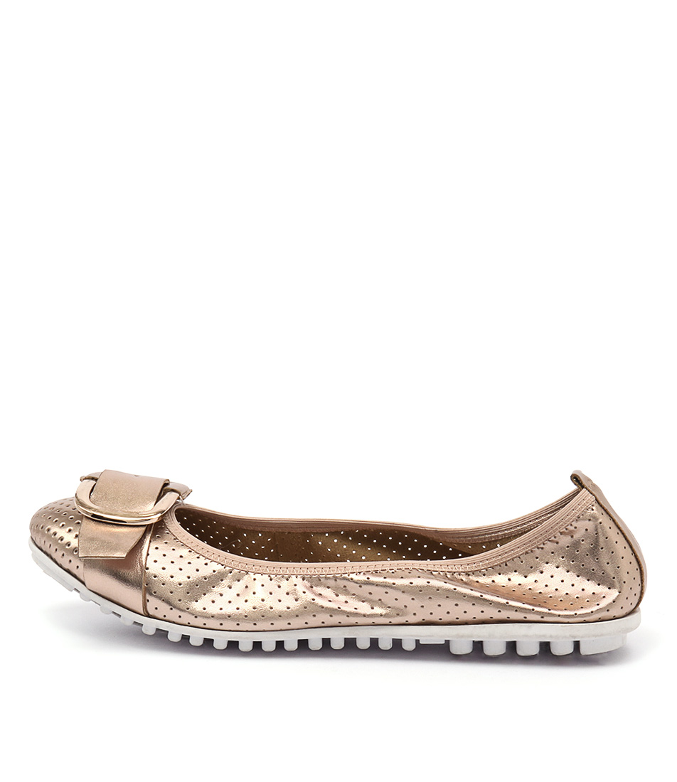 I Love Billy Bance Rose Gold Flat Shoes