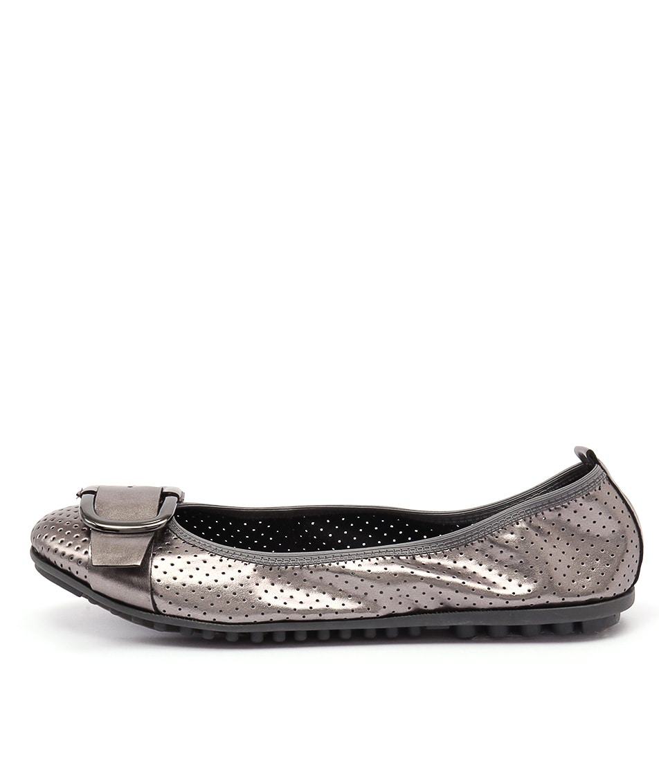 I Love Billy Bance Pewter Flat Shoes