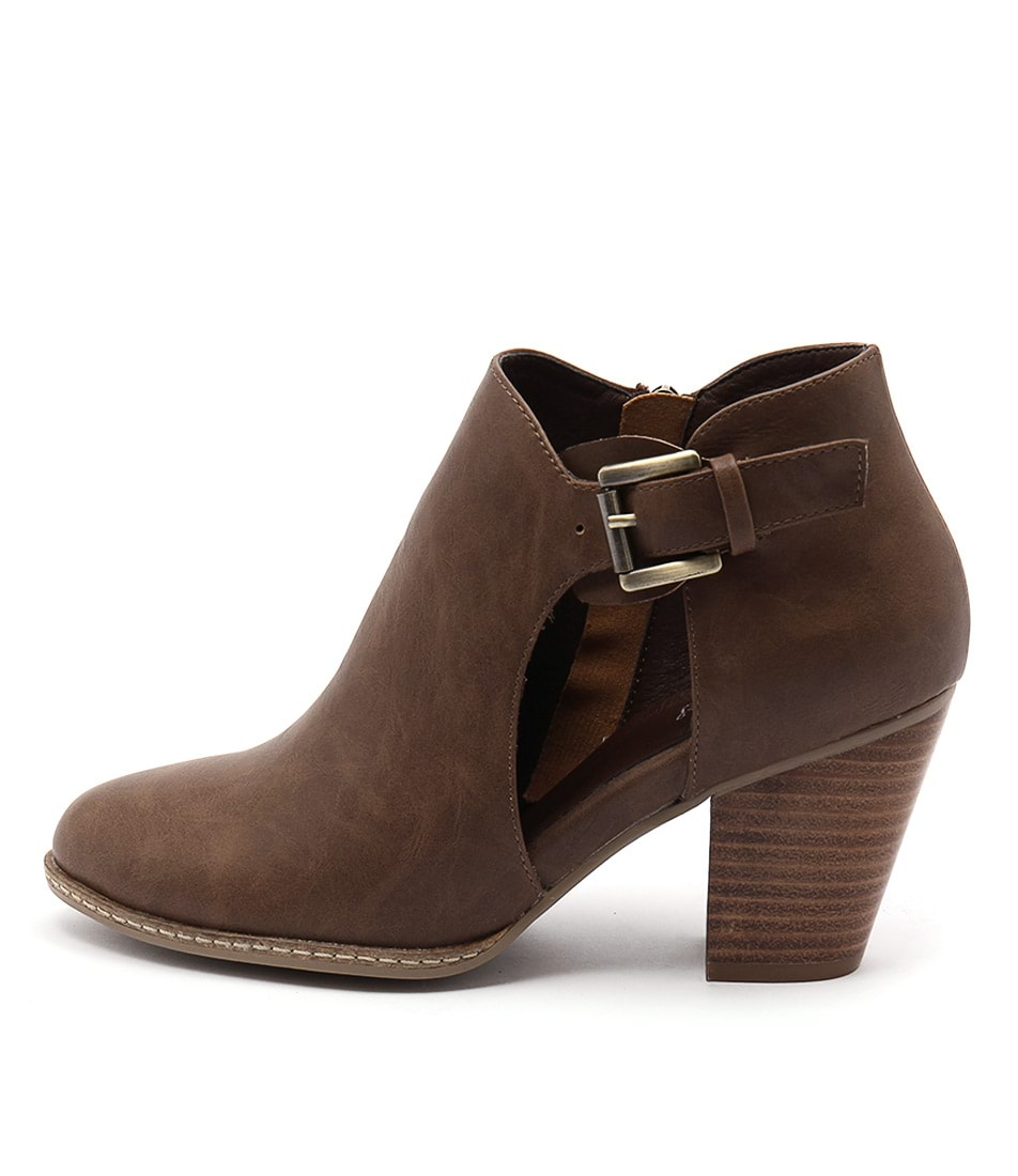 I Love Billy Christie Cognac Ankle Boots
