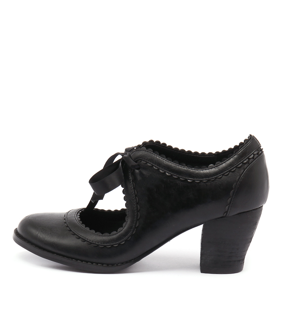 I Love Billy Diz Black Dress Heeled Shoes