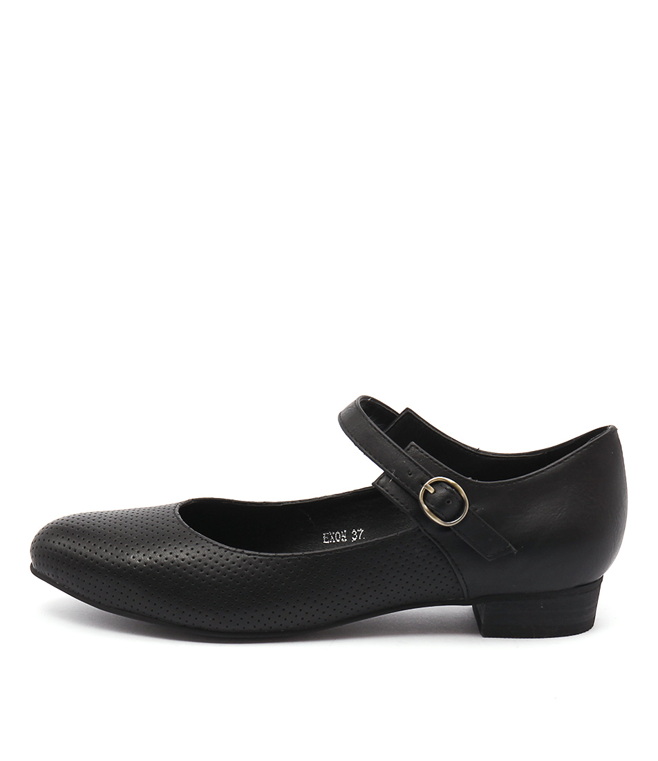 I Love Billy Exon Black Casual Flat Shoes