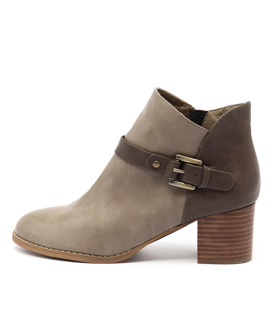 I Love Billy Jaclyn Lt Taupe Taupe Ankle Boots
