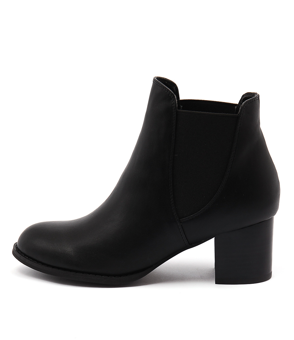I Love Billy Janice Black Ankle Boots