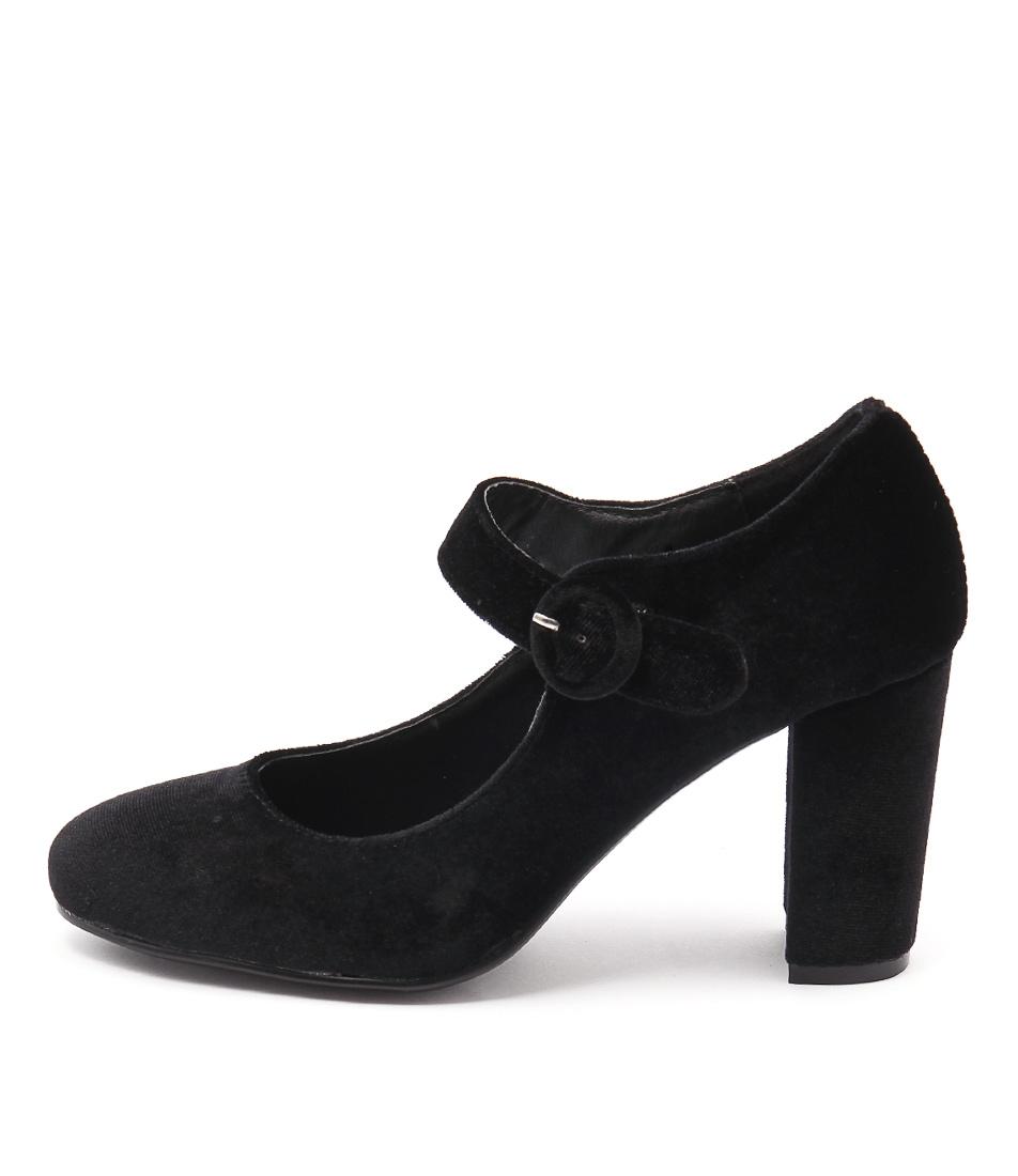I Love Billy Miranda Black Heeled Shoes