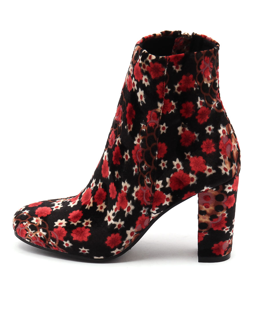 I Love Billy Miriam Black & Red Boots