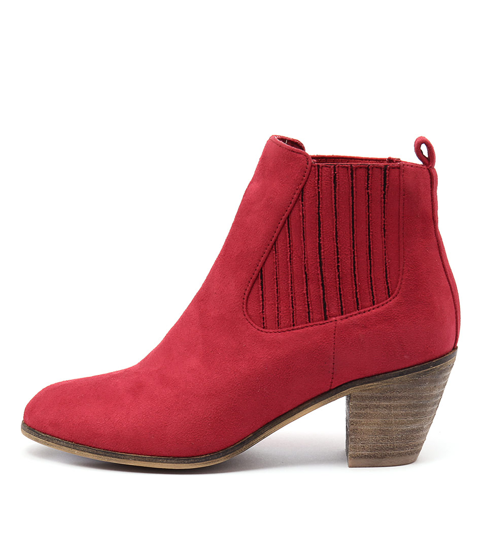 I Love Billy Nexis Red Ankle Boots