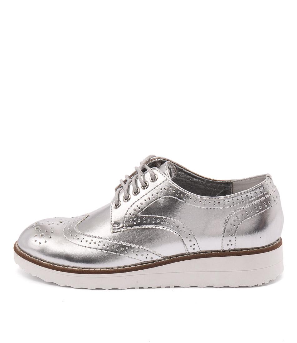 I Love Billy Oscal Silver Flats