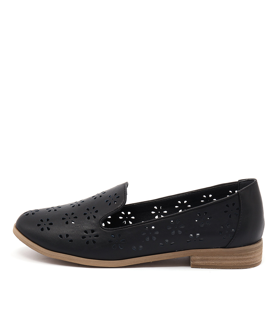 I Love Billy Quinn Navy Casual Flat Shoes