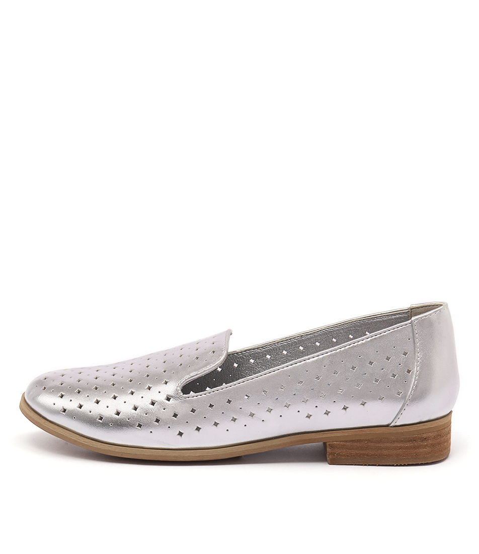 I Love Billy Quill Silver Casual Flat Shoes