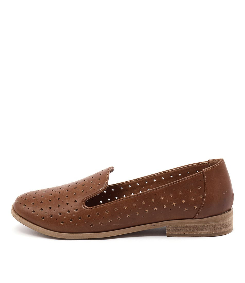 I Love Billy Quill Tan Flat Shoes