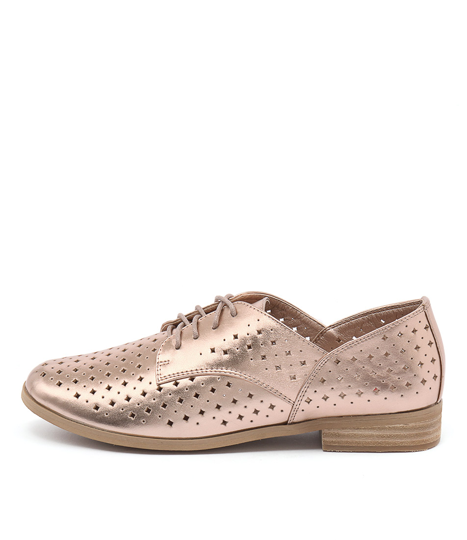 I Love Billy Quincey Rose Gold Casual Flat Shoes