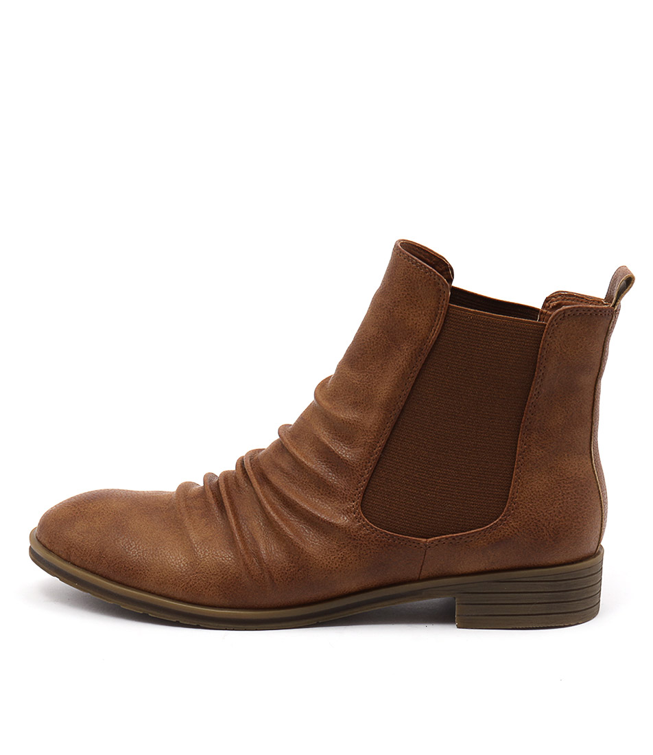 I Love Billy Toli Tan Ankle Boots