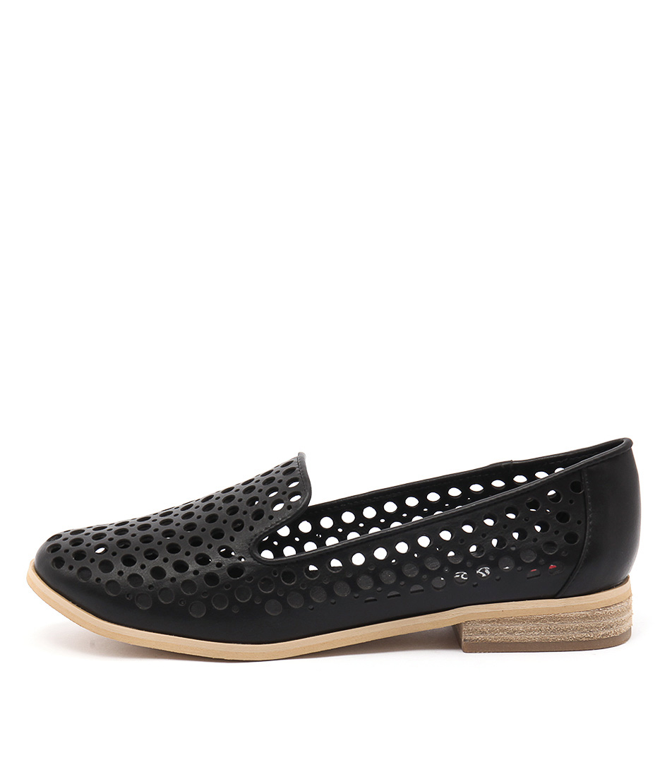 I Love Billy Question Black Casual Flat Shoes