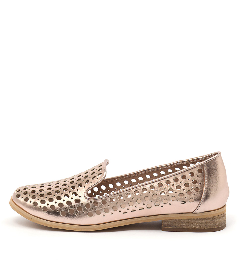 I Love Billy Question Rose Gold Casual Flat Shoes
